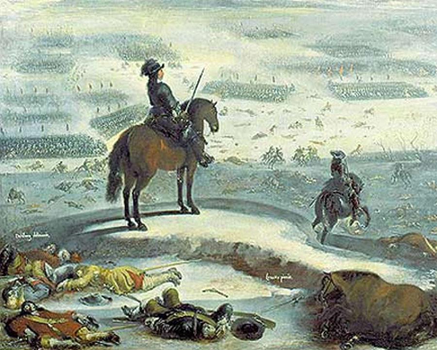 Tåget över Bält Målning av Johan Filip Lemke